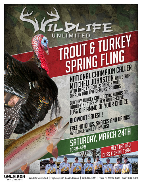 Turkey and Trout Spring Fling In Boone NC
