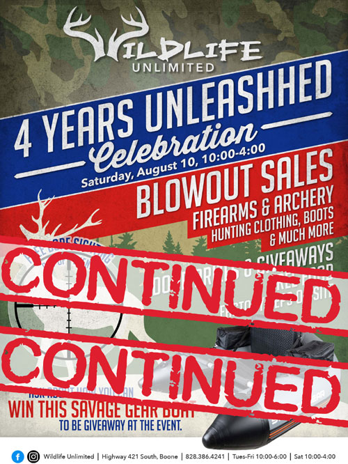 Blow Out Sale Extended Through Saturday 10am – 4pm
